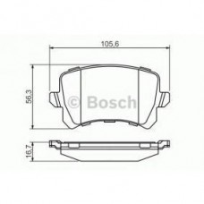 Тормозные колодки Bosch 0 986 494 344 задние