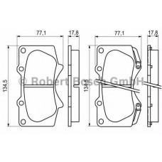 Тормозные колодки Bosch 0 986 494 153 передние